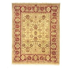 Shop for Safavieh Hand-knotted Peshawar Vegetable Dye Ivory/ Red Wool Rug (9' x 12'). Get free shipping at Overstock.com - Your Online Home Decor Outlet Store! Get 5% in rewards with Club O!