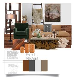 """""""Forest Neutrals"""" by ayeshamaniktala on Polyvore featuring interior, interiors, interior design, home, home decor, interior decorating, UGG Australia, Tom Dixon, abcDNA and Thumprints"""