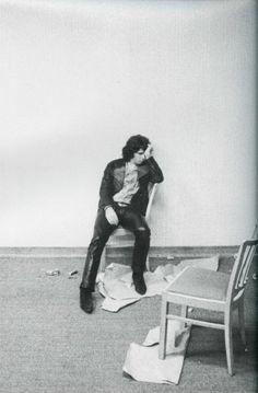 Jim Morrison backstage.