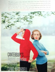 Ad Campaign – Claire McCardell for Canterbury, 1956 | The Vintage Traveler