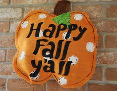 burlap crafts | Burlap Stuffed Pumpkins — Clumsy Crafter