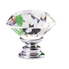 Comercio al por mayor 1 unid 30mm Diamante Perilla Del Gabinete de Cristal Gabinete Dresser Cajón Puerta de La Cocina Armario Armario Knob Tire de la Manija