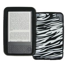 EMPIRE Amazon Kindle 3 Black and White Zebra Stripes Design Silicone Skin Case Cover [EMPIRE Packaging] by Empire. $5.95. This Amazon Kindle 3 Black and White Zebra Stripes Design silicone case is made out of durable, soft, and flexible material and is custom made to fit your device perfectly. The Amazon Kindle 3 Black and White Zebra Stripes Design silicone case allows for easy access to all buttons and ports. Plug in your charger, cable, or headset without removing the Ama...