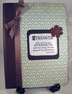 The Lord is my STRENGTH Altered Composition Notebook Journal...jot scriptures that inspire you. You can refer to it for a dose of daily inspiration.