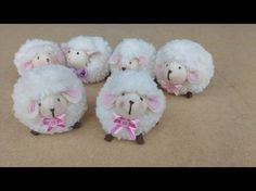 Spring came in, and it means you can start your Easter crafts now officially! If you love sewing this craft idea - the adorable little sheep plush toy - can be a great choice, even if you're just a beginner in sewing, because with this detailed video . Craft Tutorials, Sewing Tutorials, Sewing Projects, Craft Projects, Tutorial Sewing, Easter Crafts, Crafts For Kids, Pom Pom Animals, Do It Yourself Baby