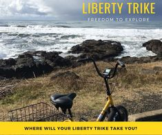 The Liberty Electric Trike is Powerful, Ultra-Portable and Fun! The Most Popular Electric Adult Tricycle in the World. E Bike Kit, Electric Trike, Adult Tricycle, Getting Out, Liberty, Cycling, Bicycle, Explore, Outdoor
