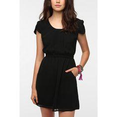 Pins And Needles Chiffon Slit Back Dress ($59) ❤ liked on Polyvore