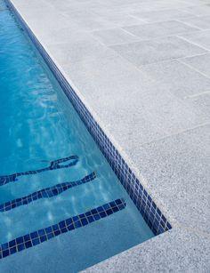 Casper White Granite Exfoliated Pavers, Granite Pool Coping, Bullnosed Pool Coping, Natural Stone, Granite