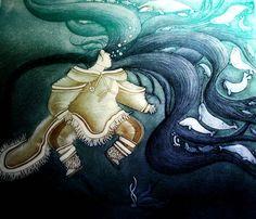 Sedna - Ruler of all sea animals - Print by Inuit artist: Germaine Arnaktauyok (1994)