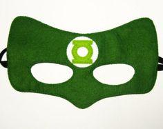 Robin superhero felt mask 2 years adult size Green by FeltFamily