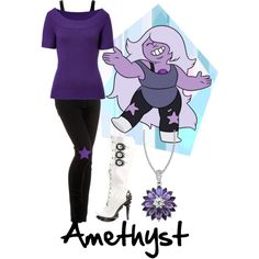 Wow i need this for a pary Casual Cosplay, Cosplay Dress, Cosplay Makeup, Amethyst Cosplay, Amethyst Steven Universe, Chibi, Cartoon Outfits, Fandom Outfits, Fandom Fashion