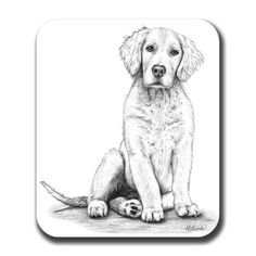 Dog Lovers Galore - Golden Retriever Puppy Mouse Pad, $11.99 (http://www.dogloversgalore.com/golden-retriever-puppy-mouse-pad/)