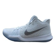 8bb22084e43 Nike Kyrie 3 Size 14 Basketball Shoes Mens White Chrome 852395 103 New  Nike