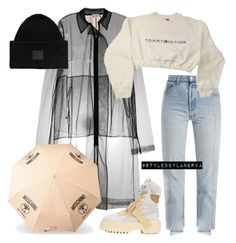 """""""Untitled #1199"""" by amanda-lanerva ❤ liked on Polyvore featuring Vetements, N°21, Puma, Acne Studios and Moschino"""