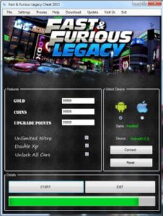 Fast and furious legacy hack tool no survey free download now. To download fast and furious legacy hack apk/ios, no password and no stupid offers are