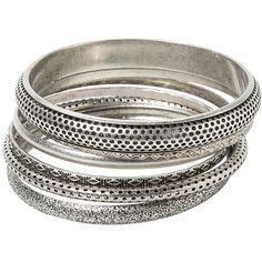MANGO Metal Bracelet Set ($20) ❤ liked on Polyvore featuring jewelry, bracelets, bracelet jewelry, metal bangles, bracelet set, mango jewelry and bracelet bangle