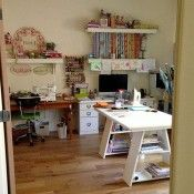 """Where I Sew"" series from Pink Chalk Fabrics.  Tour a bunch of sewing studios"