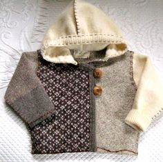 PETER Baby Hoodie made from Recycled Sweaters by heartfeltbaby - felt vest inspiration
