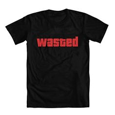 """Grand Theft Auto """"Wasted"""" Men's T-Shirt Black Small"""