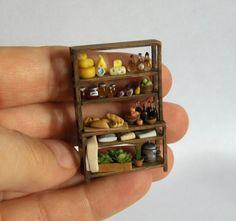 Quarter scale rustic deli kitchen display