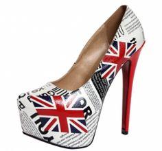 Price: £30.00  SHOP NOW Add to Your Facebook AlbumElizabella Union Jack Extreme Platform Heels  £30.00