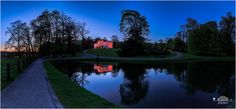 https://flic.kr/p/GMAxbv | Arnhem Giro Italia en de witte villa in roze | The days last longer, more light so blue hours turn more difficult I feel. You still see the bright magenta colours of light in the sky blended with the blues of the falling night.  Took this shot in the Arnhem park Sonsbeek de Witte Villa is also lighted with Pink. Also other places in Arnhem because of the Giro Italia are lighted with pink colours. The Giro Italia is starting tomorrow and passing Arnhem two times…