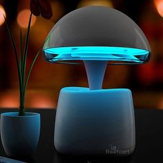 Mushroom-shaped Speakers with LED Lamps if ypu're looking to raise the funk game!