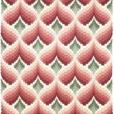 A classic bargello pattern--love this style of stitchery! Bargello is fast and easy and stress free! Broderie Bargello, Bargello Needlepoint, Bargello Quilts, Needlepoint Stitches, Needlework, Cross Stitching, Cross Stitch Embroidery, Embroidery Patterns, Bargello Patterns