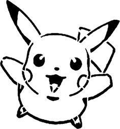 Pokemon Pumpkin Carving Patterns | Home » Stencils » Pikachu Stencil