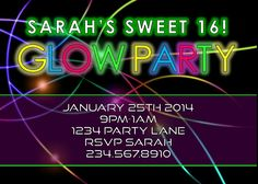 Image result for glow in the dark foam party
