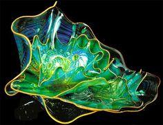Aquamarine Shell dish - Murano Glass