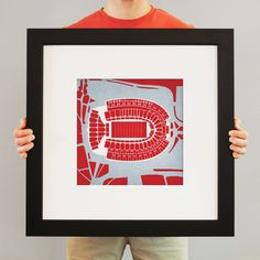 Ohio Stadium   College football prints from City Prints put you back in the stands on Saturdays. City Prints look like modern art and remind you of the unforgettable moments you experienced in your favorite seats