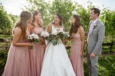 Want to see our full wedding album? Click and check! Follow us on Pinterest to see weekly updates! ❤︎ Perfect bride | Wedding Photography | Bridesmaids | Candid moments | Wedding Getting Ready | Bridesmaids Dusty Rose Dress | Precious Pics Production