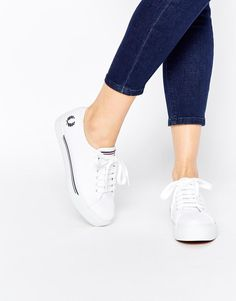 Fred Perry | Fred Perry Phoenix Flatform Canvas Plimsoll Trainers at ASOS