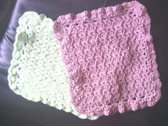 Crocheted Washcloths..used  I love this cotton yarn..paris stitch..soo soft..love these! Works up real quick