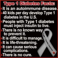 Facts about type 1 Diabetes, my son Colin was diagnosed with Type 1 Diabetes just a few days before middle school in Aug 2012.