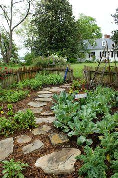 Vegetable Garden pathway | by KarlGercens.com GARDEN LECTURES