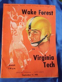 Vintage Virginia Tech vs Wake Forest Football Program Groves Stadium 1955 COOL! #VirginiaTechHokies  This is now for sale on ebay for 99 cents Search ebay for item number- 121419930712