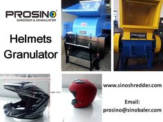 Do you dispose your helmets in an environmental way? Why not separate the recyclable parts and non-recyclable parts from the helmets and start your helmet recycling program. Contact PROSINO for more details. Recycling Machines, Novelty Helmets, Half Helmets, New Helmet, Recycling Process, Plastic Items, Helmet Design, Recycling Programs, Recycled Bottles