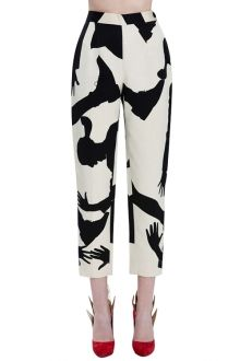 ZANFUL - these are so funky.  Too bad they don't have my size.  :( Color Block Print Side Slit Pants