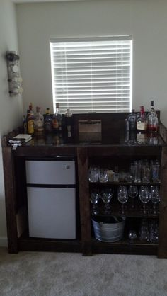 Homemade bar for the man cave.