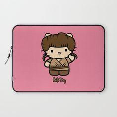 Hello Rey! Star Wars fan art laptop sleeve on Society 6