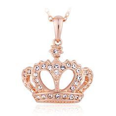 Crown Necklace with Swarovski Elements