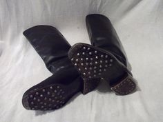 WW2 Original German Jack Boots with Hobnail Heal Irons Toe Caps Size 9 1 2 | eBay