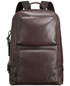 db6676acfab The backpack takes on a sophisticated uptown tone in the smooth, supple  leather… Leather