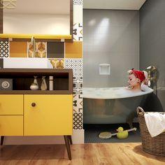 Banhero Retrô da Berton Móveis em imagem produzida pelo Studio 25