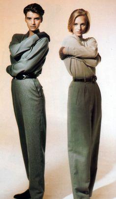 Calvin Klein, 1980 unisex casual look