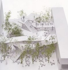 A network of staircases defines taiwan cafe by sou fujimoto:
