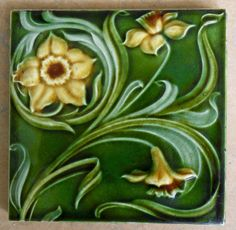 I like this early registered design from Henry Richards c1901,tile reference 900…