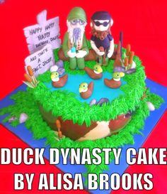 Duck Dynasty Birthday Cake by Alisa Brooks www.thepartyplacetimmins.com
